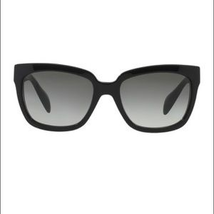 Prada Heritage 56mm Square Sunglasses - Black